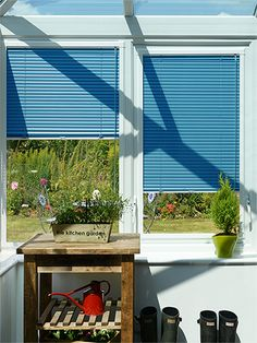 Swedish Blue Perfect Fit Venetian Blind from Blinds 2go