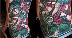 This epic tattoo by Mariusz Romanowicz tells the story of how one crusader saved 15,000 souls by slaying a dragon.
