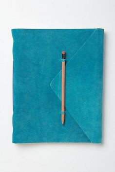 Slipped-In-Suede Journal (100 unlined pages + beechwood pencil) | anthropologie $28-48