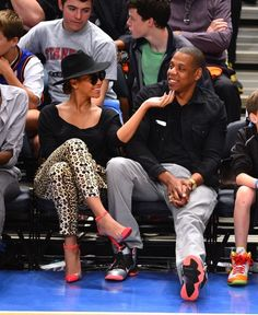 Looking at Jay Z's chin patch, haha