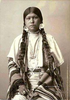Yakama woman. ca. 1900. Seattle, WA. Photo by Frank La Roche.