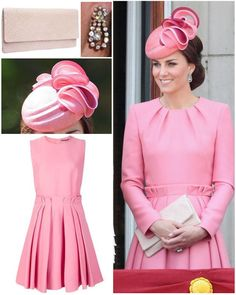 "14k Likes, 138 Comments - Catherine Duchess Of Cambridge (@katemidleton) on Instagram: ""The Duchess was back in pink for today's Trooping the Colour 💕 Her new dress appears to be a…"""