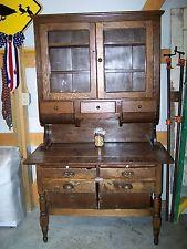 Oak Hoosier Cabinet w/ Possum Belly Drawers | Hoosier cabinet ...