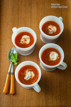 Tomato Soup With Basil Yogurt Cream By Splendidtable What S Not To Love About A