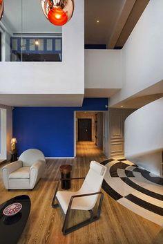 Diseño contemporáneo http://www.arquitexs.com/2014/05/arquitectura-blue-penthouse-dariel-studio.html