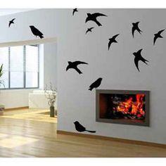 5220 - Wall Art Decor Black Birds in Flight Wall Decal