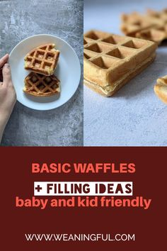 These healthy homemade waffles made from scratch make the perfect quick and easy breakfast for kids of all ages, even for babies at 6 months old. A great finger food idea for little ones just starting solids, but also a filling snack for older kids or picky eaters. Baby Meals, Kid Meals, Meals For One, Easy Snacks For Kids, Healthy Meals For Kids, Easy Healthy Recipes, Waffle Recipes, Baby Food Recipes, Snack Recipes