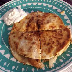Homemade chix quesadilla's
