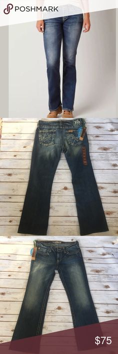 "NWT BIG STAR The Buckle Remy Bootcut Jeans Sz 30 NWT BIG STAR The Buckle Remy Low Rise Bootcut Jeans Stitch Pockets Sz 30 Rise 8"" 99% Cotton  Machine wash  Professionally hemmed inseam to 29""     /535/ Big Star Jeans Boot Cut"