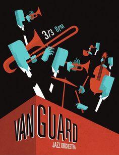 The Vanguard Jazz Orchestra Poster by Samantha Mak.