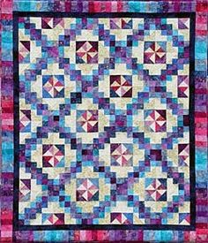Pathways quilt pattern designed by Charlotte Angotti