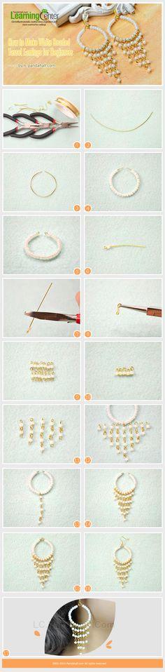How to Make White Beaded Tassel Earrings for Beginners