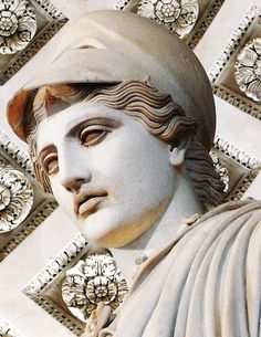 """Statue known as """"Athena of Velletri"""" - Greek orjinal bronze lost, that's Roman copy of 1st c. AD - at the Louvre Museum"""