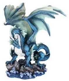 Water Dragon Figurine Statue Sculpture Figure