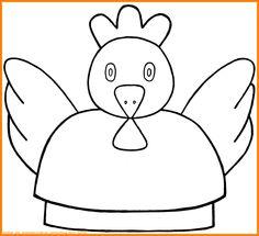 Poule de Pâques... couvant... à colorier