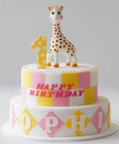 bolo de aniversario girafa