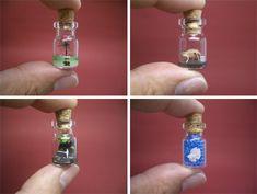little glass bottles   Lilliputian Landscapes: Paper Sculptures in Mini Bottles   WebEcoist