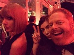 Sharing a new gram // Jesse Tyler-Ferguson posted this selfie of him with Taylor and Lorde! #VFOscarParty #taylorswiftupdates - - - #taylorswift #taylor #swift #swifties #swiftie#1989#shakeitoff#1989worldtour#the1989worldtour @taylorswift @taylornation by official.taylor.swift