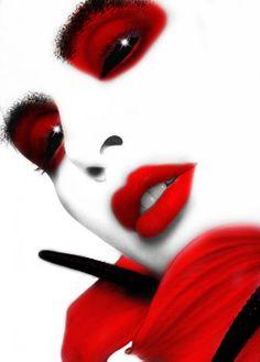 RED WHITE BLACK.