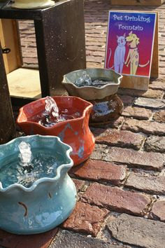 PET DRINKING FOUNTAINS by LazyJPottery on Etsy