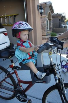 WeeRide Kangaroo bike seat for babies and toddlers.- awesome idea!