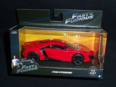 Jada Fast and Furious 7 Lykan Hypersport 1:32 Scale Supercar Red Free Shipping #JadaToys #Lykan
