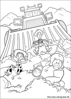 toy story coloring pages all characters  Disney  Pinterest  Toy