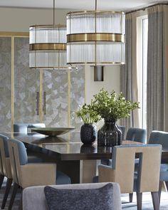Dining room ideas |The glass and brass were the chosen materials | www.bocadolobo.com #diningroomdecorideas #moderndiningrooms