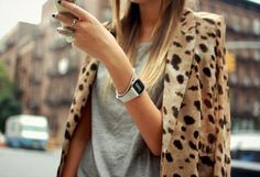 Leopard and gray