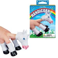 Handicorn is a Unicorn Finger Puppet because we NEED more kick ass unicorns in our world! ❤️