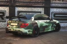 MERCEDES C63 AMG в камуфляже!)