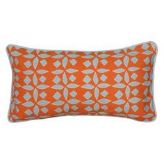 Rizzy Home Printed with Cording Details Decorative Throw Pillow in Orange - PILT06218ORBL1121