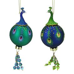 Shop for Regal Peacock Green and Blue Glittered Glass Ball with Dangle Christmas Ornament. Get free delivery On EVERYTHING* Overstock - Your Online Christmas Store! Peacock Christmas Decorations, Peacock Christmas Tree, Peacock Ornaments, Modern Christmas Decor, Country Christmas Decorations, Farmhouse Christmas Decor, Christmas Tree Themes, Christmas Colors, Holiday Decor