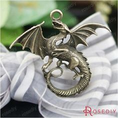 (26678-G)2PCS 47*43MM Antique Bronze Plated Zinc Alloy Necklaces Pendants Dragon Pendants Diy Handmade Jewelry Findings
