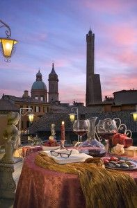 dining in a breathtaking atmosphere....Bologna