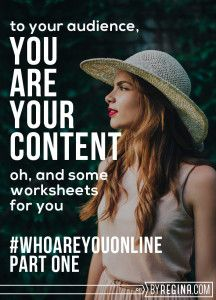 You are your content