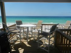 Sanddollar Townhomes Vacation Rental - VRBO 307830 - 3 BR Scenic Gulf Drive Central Townhome in FL, Oceanfront. No Street to Cross.Great Lat...3000 june/july3300
