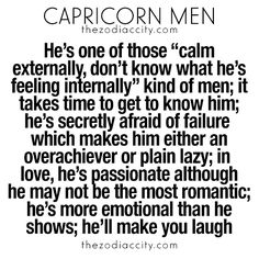 Capricorn man likes and dislikes