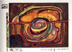 Numéro Eyebalance 368A cinq - (Friedensreich Hundertwasser)