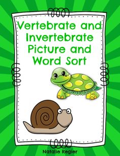 Vertebrate and Invertebrate Picture and Word Sort - The Vertebrate and Invertebrate Picture and Word Sort is a engaging Science activity center. In addition, there are three different activities you can do with your class using this picture and word sort. Directions are in the teacher notes section. Cards and headings are ready to print and use. #teachersherpa
