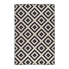 [이케아] LAPPLJUNG RUTA Rug Low Pile (200x300cm, White/Black) 202.605.20
