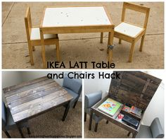 IKEA Hack/LATT Table and Chairs Turned Storage Table