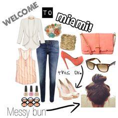 Miami look, created by claudiamcrad on Polyvore