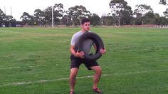 Tyre Bear Hug Squats