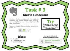 Evernote Task #3 Create a Checklist