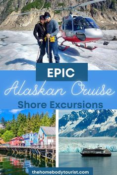 The most EPIC Alaska cruise shore excursions to add to your bucket list. Helicopter rides, glaciers, snorkeling, and MORE! Cruise Travel, Travel Usa, Travel Tips, Best Alaskan Cruise, Top Cruise Lines, Alaska Cruise Tips, Mount Rainier National Park, Norwegian Cruise Line, Cruise Destinations