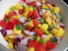 Mango salsa recipes are great toppings for crepes with grilled meat or veggies. Try this mild salsa recipe...it is easy, fast, and delicious!