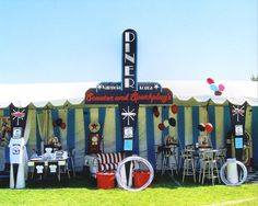 50's diner, WOW! Great for one of the Decades Of Hope Relays!