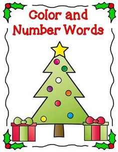 Free   Your students will have fun reading their number and color words as they decorate these Christmas trees.