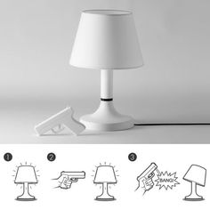 desk lamp controlled by a gun-shaped remote. BANG!